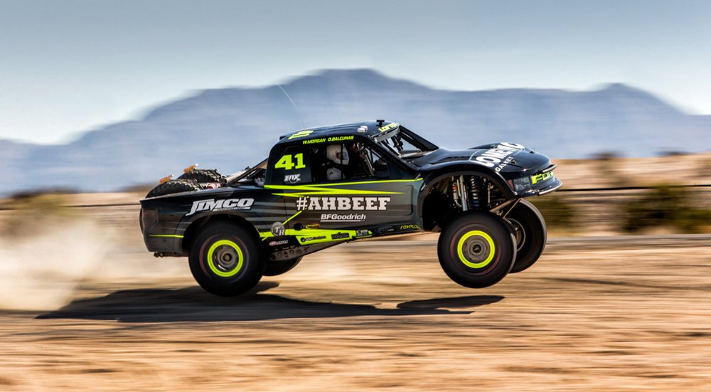 Justin Lofton in his 2015 Jimco Trophy Truck PHOTO: Race-dezert