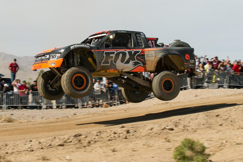 Justin Lofton in his 2016 Jimco Trophy Truck PHOTO: MotoNetworks