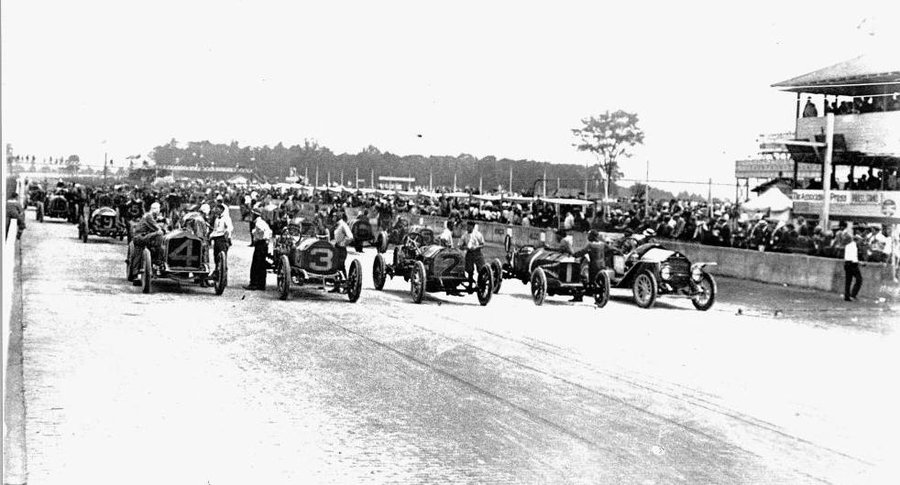 Starting Line of the 1911 Indy 500 PHOTO: NPR