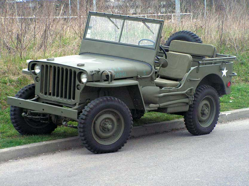 Fords GPW, The 'W' Stands for Willys. This was teh version that Ford started helping Willys build after they couldn't keep up with demand PHOTO: milweb