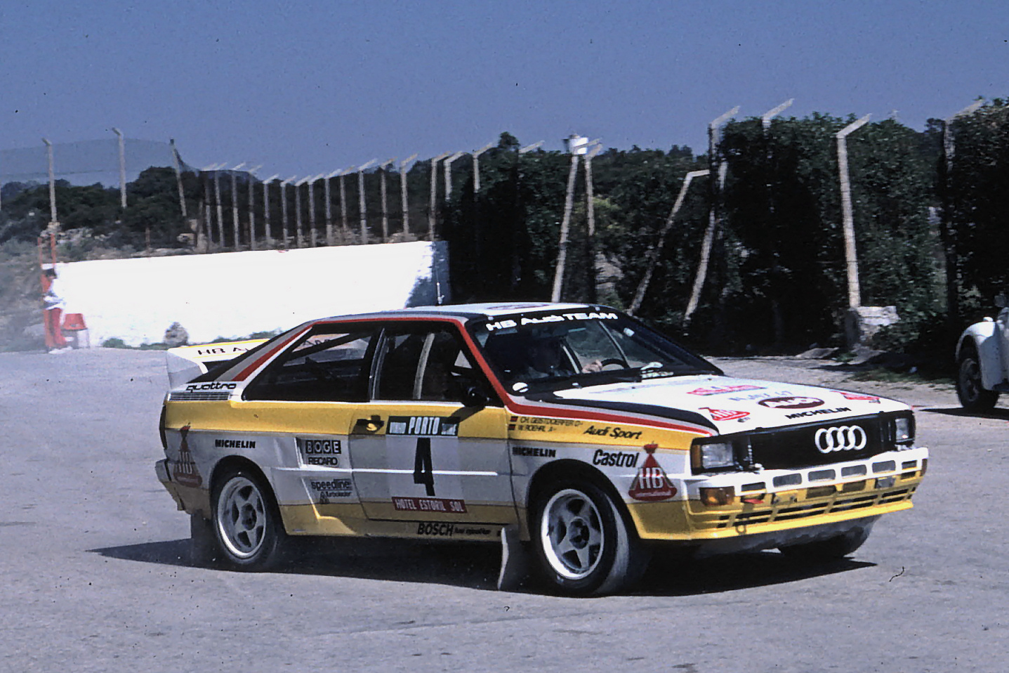 Quattro A2 used in 1984 Portugal Rally Photo: Wiki