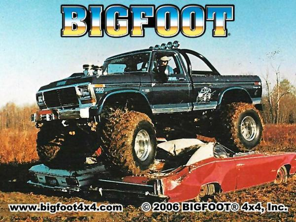 The Picture that started it all. Bigfoot 1 in 1981 Photo: Blue Oval Trucks
