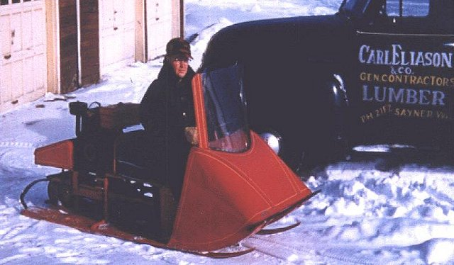 Eliason on his K-12 model Photo: Eliason-snowmobile