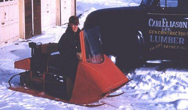 Eliason on his K-12 model Photo: Eliason-snowmobile