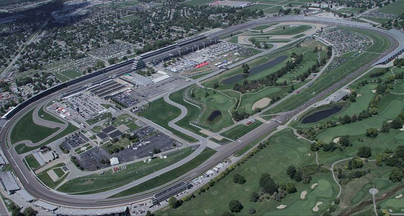 Indianapolis Speedway Aerial View PHOTO: Indymotorspeedway