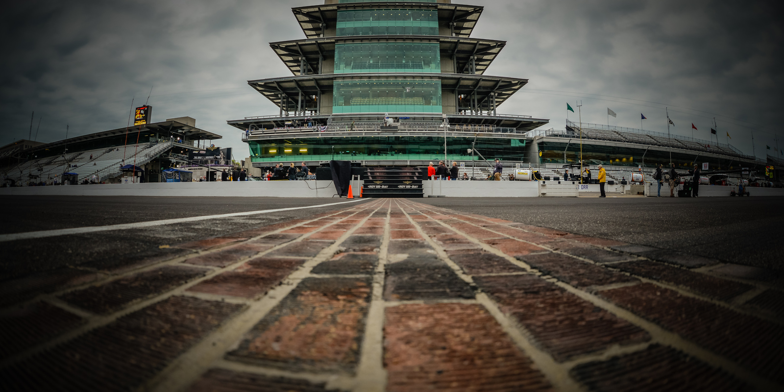 All that remains of the 3.2 million bricks that once paved the entire 2.5 mile track. PHOTO: dailydsports