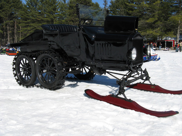 Model T snow conversion  Photo: advrider.com