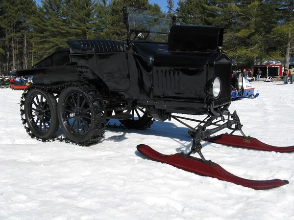 Model T snow conversion  Photo: advrider.com