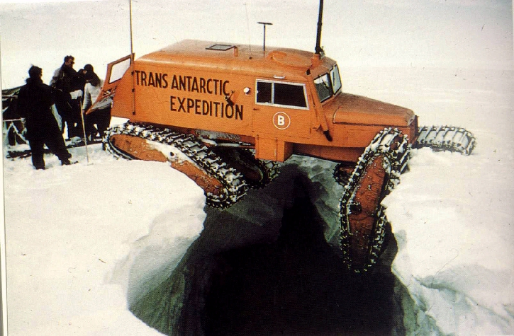 The Tucker Sno-Cat 743 during the Antarctic Exploration PHOTO:TimWafer