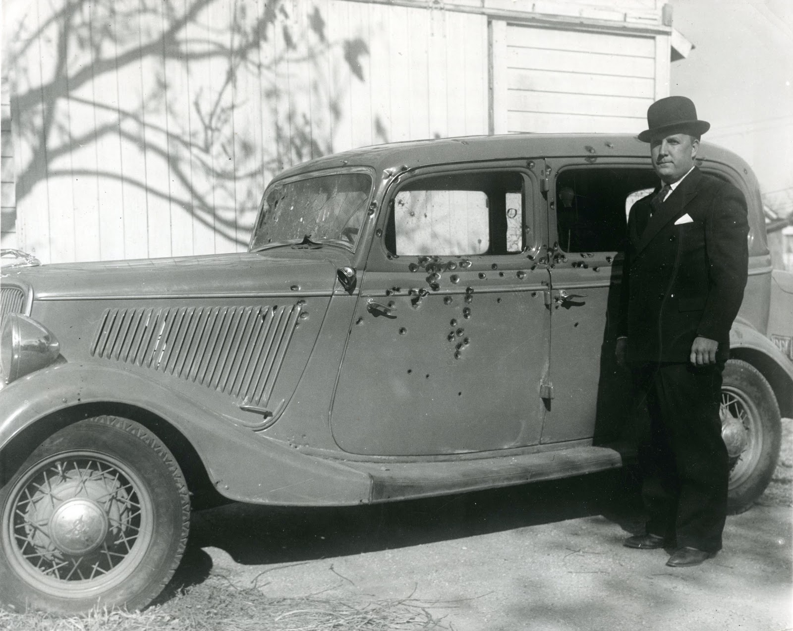 John Dillinger's 1934 Ford V8 Photo: dkcohistory