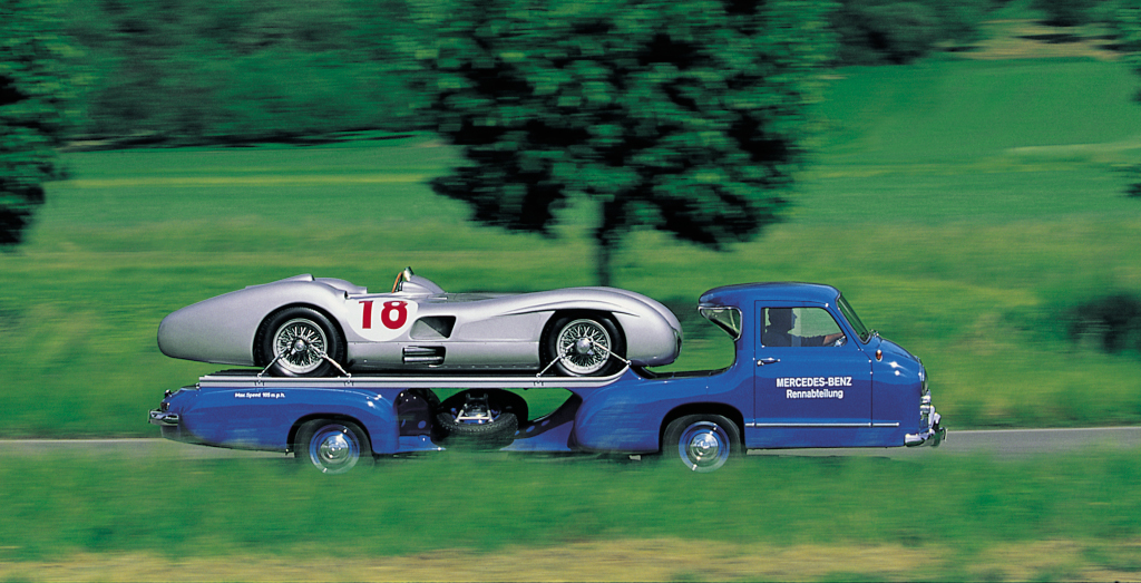 Mercedes Benz S Race Car Transporter