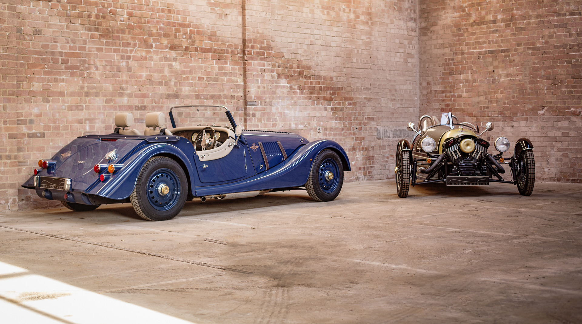 80th Anniversary 4/4 with the Morgan three-wheeler Photo: morganmotorcompany