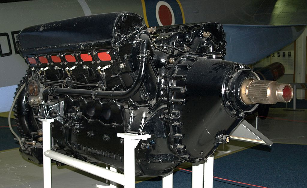 Rolls Royce R Aero engine used in the 300mph Blue Bird, minus the supercharger Photo: wiki