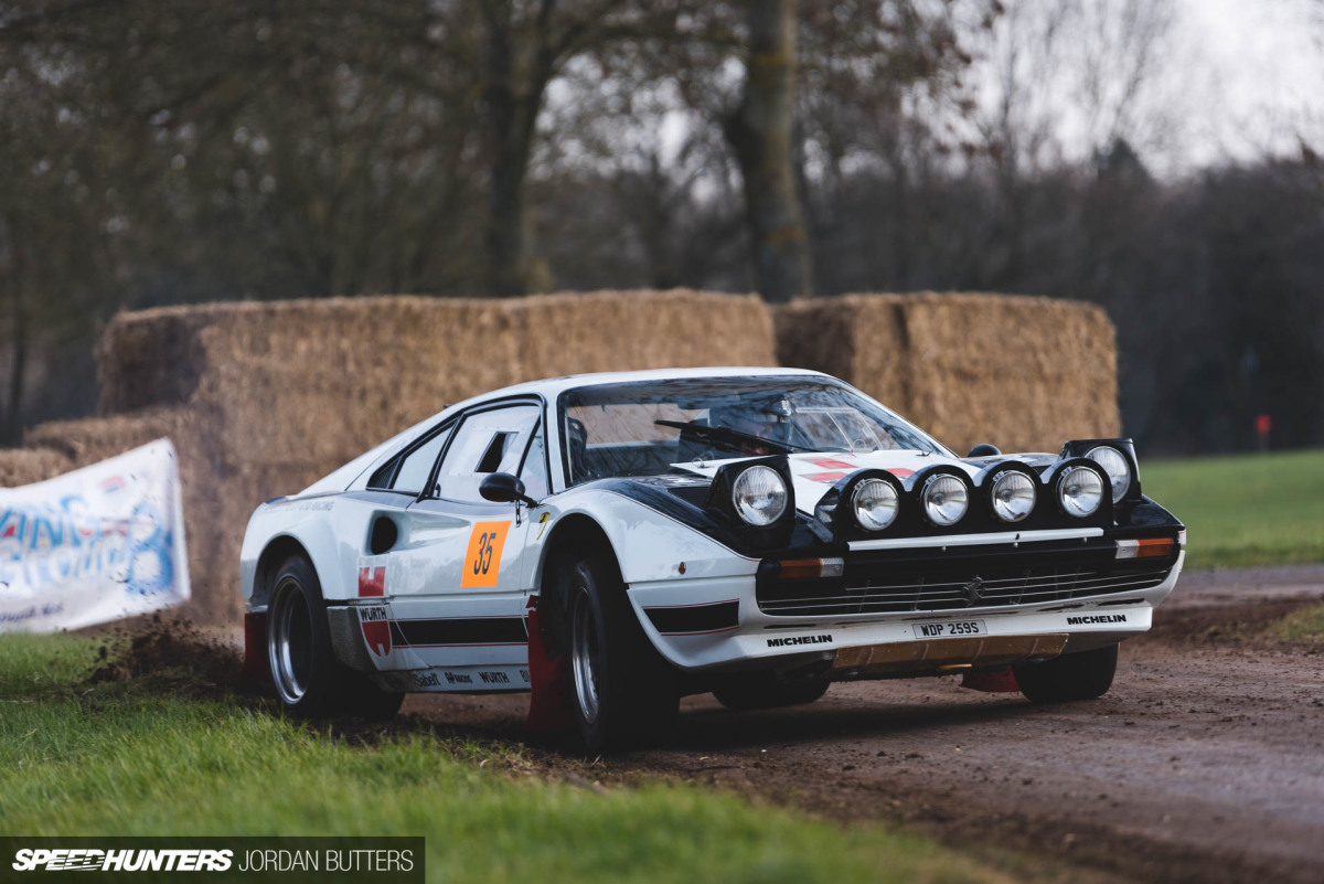 Ferrari 308 GTB rally car that most definitely has RWD. Photo: speedhunters